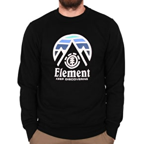 Element Tri Tip Crewneck - Flint Black