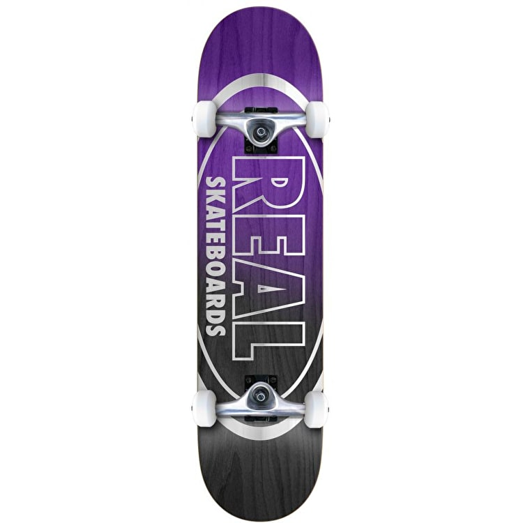Real Metallic Oval Fades Complete Skateboard - 8""