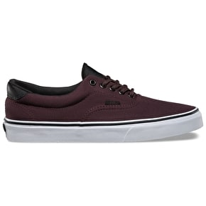 Vans Era 59 Skate Shoes - (Canvas/Military) Iron Brown/White