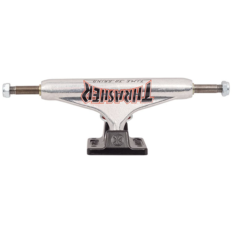Independent x Thrasher TTG Standard Skateboard Trucks - Silver/Black 139mm