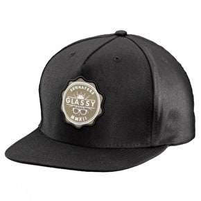 Glassy Sunhaters Seal Snapback Cap - Black