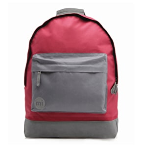 Mi-Pac Backpack - Two Tone Burgundy/Charcoal