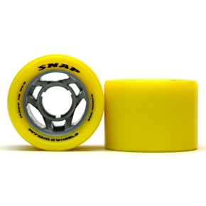 Atom Snap 62mm Quad Derby Wheel 91A (4pk) Yellow (B-Stock)