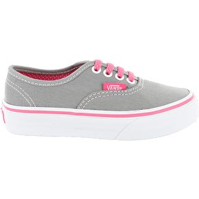 Vans Authentic Kids Shoes - (Polka Dots) Frost Grey/Hot Pink