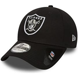 New Era Oakland Raiders NFL Black Base 39THIRTY Cap - Black