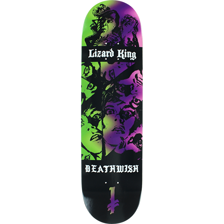 Deathwish Colors Of Death Skateboard Deck - Lizard King 8.375""