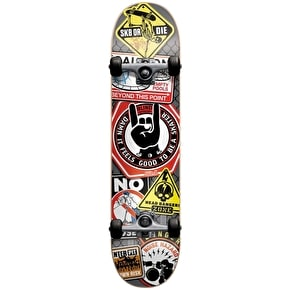 Blind Warning Signs Complete Skateboard - 7.75''