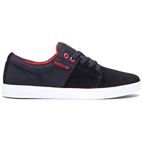 Supra Stacks II Shoes - Black/Red/White
