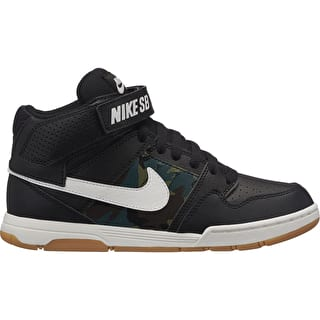 Nike SB Mogan Mid 2 Kids Skate Shoes - Black/Summit White/Medium Olive