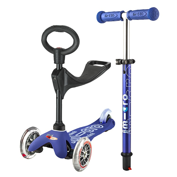 Mini Micro 3in1 Deluxe Complete Scooter  Blue
