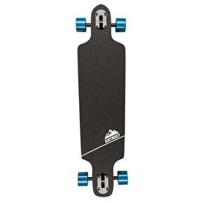 D-Street Polygon Hex Drop-Through Complete Longboard - Blue 37.5