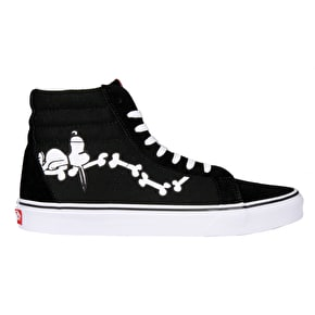 Vans x Peanuts SK8-Hi Reissue Shoes - Snoopy Bones/Black