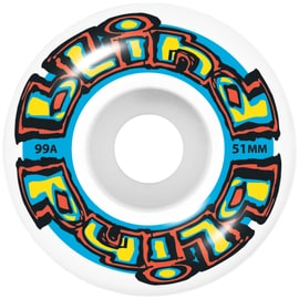 Blind OG Stretch Skateboard Wheels - White/Blue 51mm