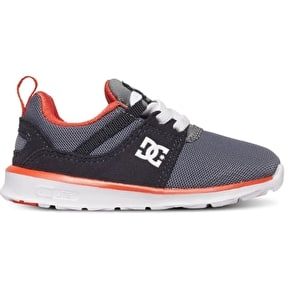 DC Heathrow Toddler Skate Shoes - Grey/Orange