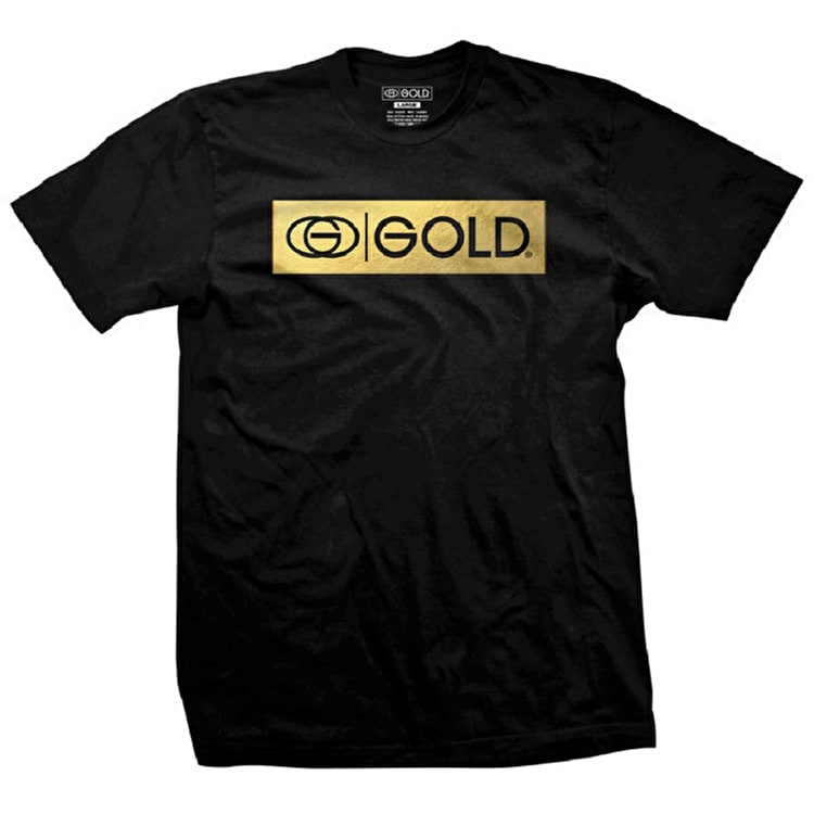 Gold Logo Bar T-Shirt - Black