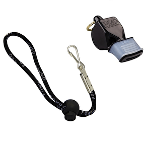 Fox 40 CMG Whistle w/lanyard- Black