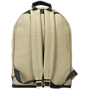 Mi-Pac Canvas Tumbled Backpack - Khaki/Black