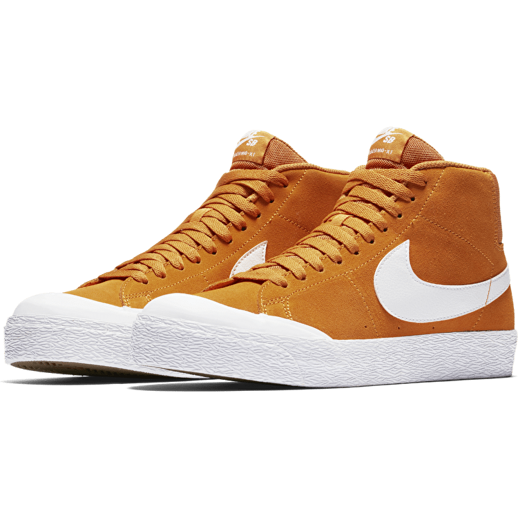 Nike SB Blazer Zoom Mid XT Skate Shoes - Circuit Orange/White