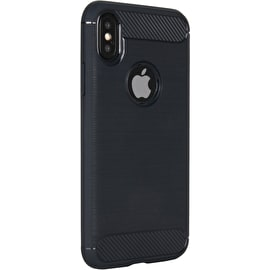 C@se Brushed Carbon iPhone X Case - Navy