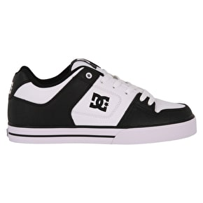 DC Pure Skate Shoes - Black/White/Black