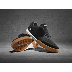 Etnies Helix Skate Shoes - Black/White/Gum