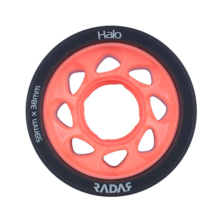 Radar Halo 59mm Roller Skate Wheels x 4 - Charcoal/Pink 93A