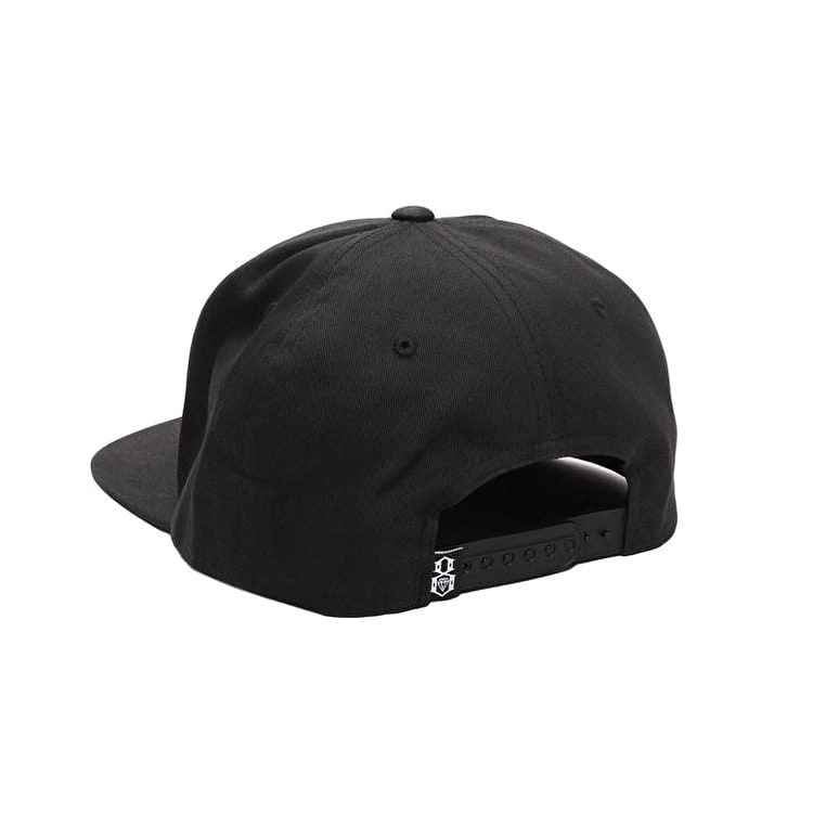 Rebel8 Logo Snapback Cap - Black