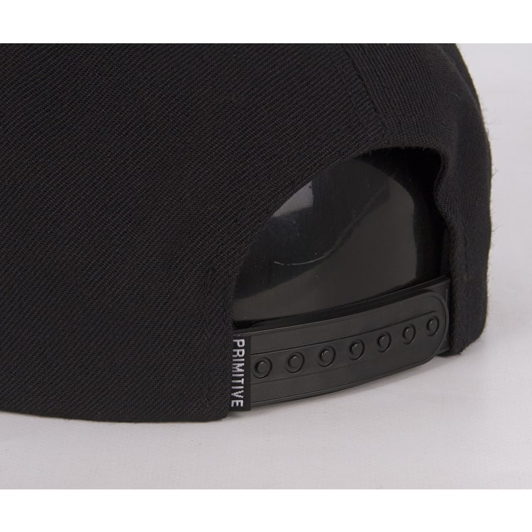 Primitive Dirty 6 Panel Snapback Cap - Black