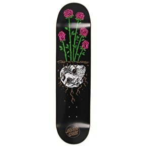Santa Cruz Death Rose Skateboard Deck - Black 7.75