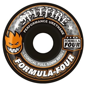 Spitfire Formula Four Conical 99D Skateboard Wheels - Black 52mm