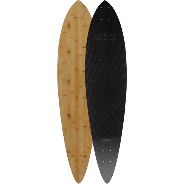 Carbon Skateboards Longboard Deck - Pintail 40