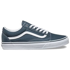 Vans Old Skool Skate Shoes - (Canvas) Dark Slate/True White