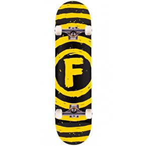 Foundation Vertigo Sketch Complete Skateboard - Black/Yellow 7.75