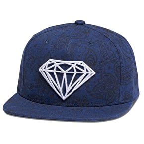 Diamond Brilliant Radiant Clipback - Navy
