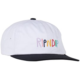 RIPNDIP Multi 6 Panel Strapback Cap - White