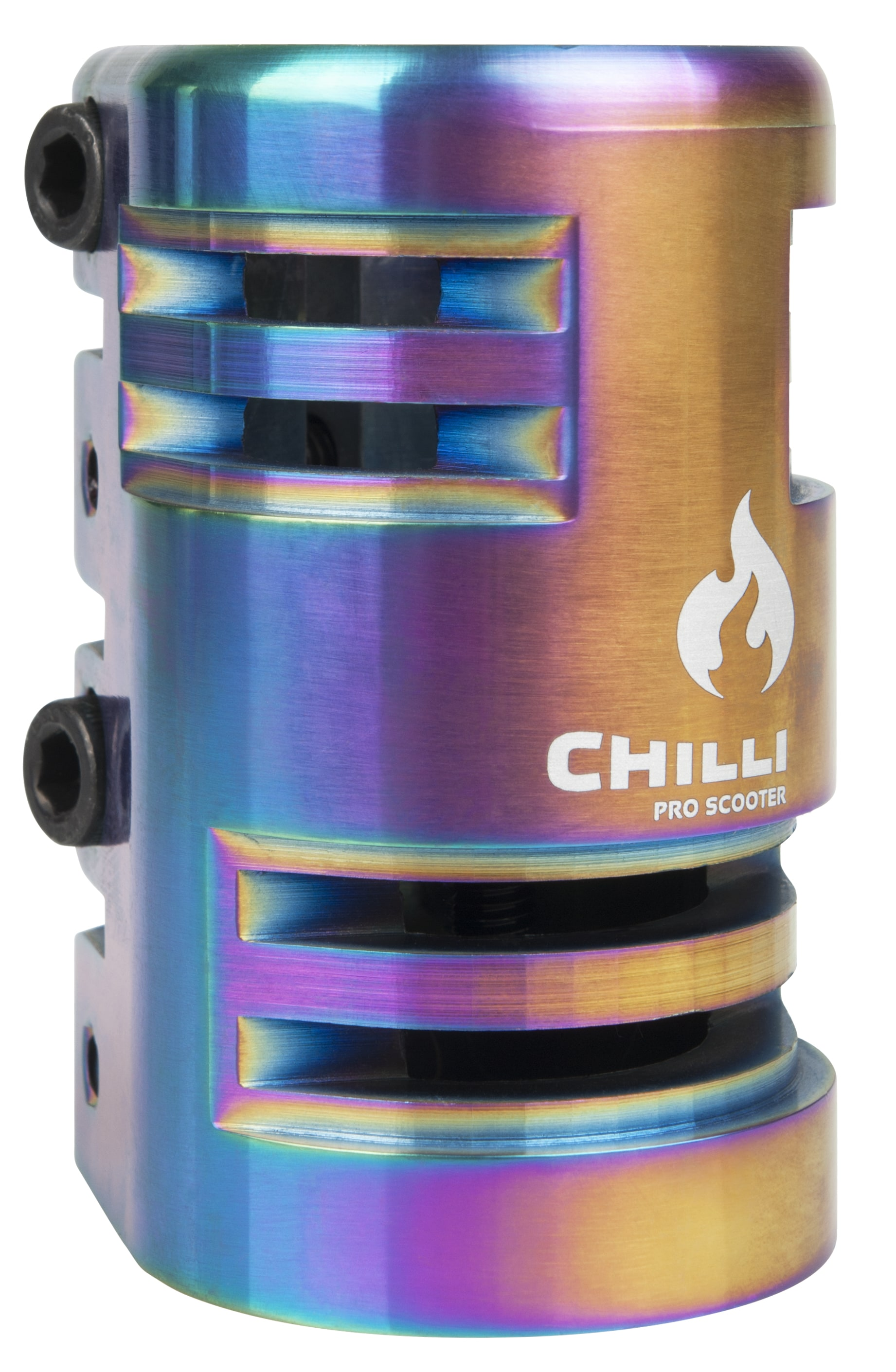 Image of Chilli Pro 4 Bolt SCS Scooter Clamp - Rainbow
