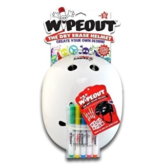 Triple 8 Kids Wipeout Helmet - White