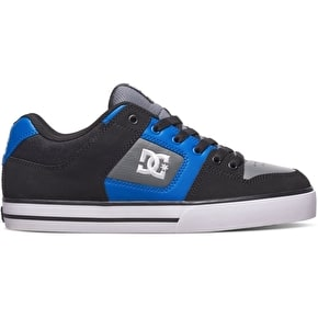 DC Pure Skate Shoes - Black/Blue/Grey