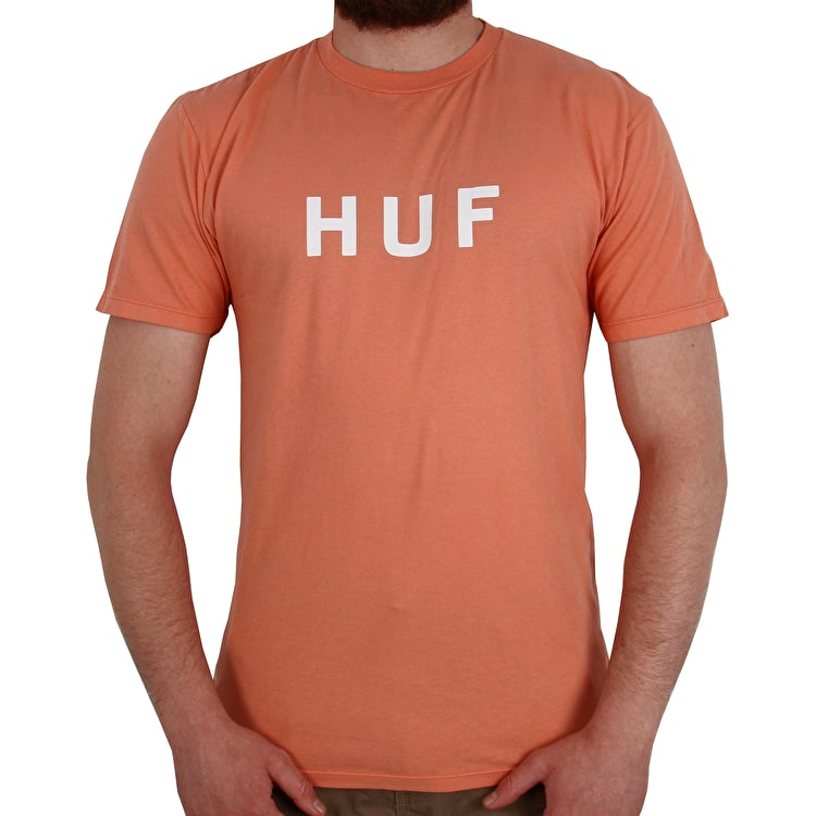 Huf Essentials OG Logo T-Shirt - Coral Haze