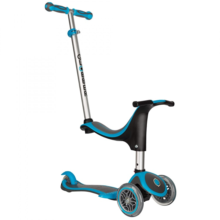 Globber Evo 4-In-1 Plus Complete Scooter - Sky Blue