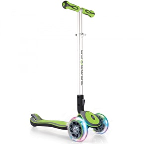 Globber Elite Lights Complete Scooter - Lime Green
