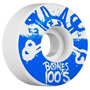 Bones OG 100'S #10 V4 Skateboard Wheels - White 53mm (Pack of 4)