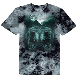 Grizzly Roar At The Moon T-Shirt - Crystal Wash