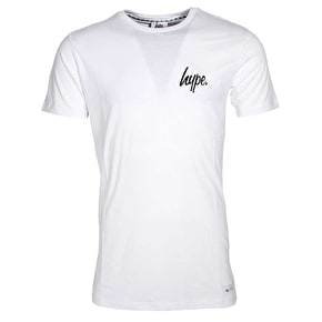 Hype Green Leaf Infill T-Shirt - White