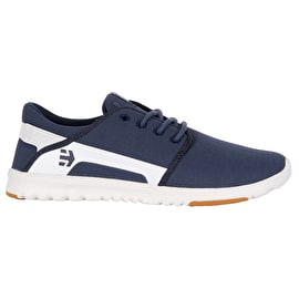 Etnies Scout Skate Shoes - Dark Blue/White