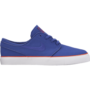 Nike SB Zoom Stefan Janoski Canvas Skate Shoes - Deep Night/Max Orange