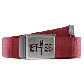 Etnies A To E Belt - Burgundy