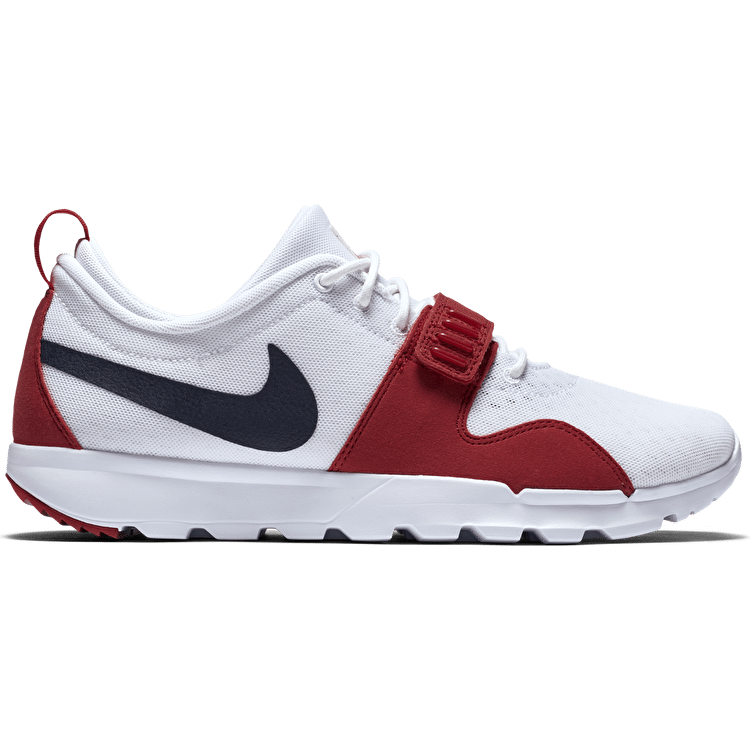 Nike SB Trainerendor Shoes - White/Obsidian/Red