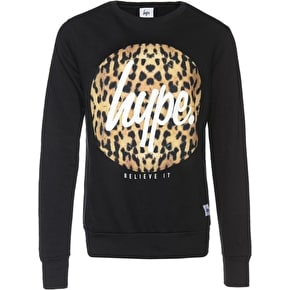 Hype Cheetah Circle Crewneck - Black