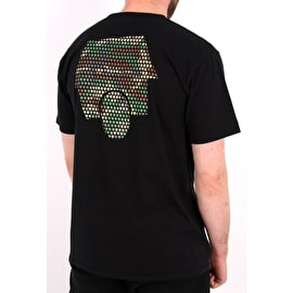 SkateHut Hut Dot Logo T shirt - Black/Camo